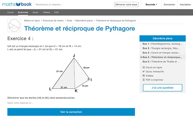 exercices de maths corrigés